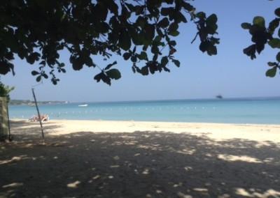 Pristine sand beach