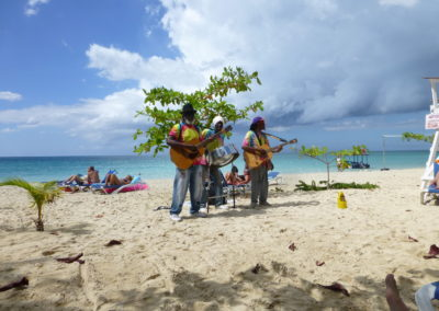 beach musicians in Negril