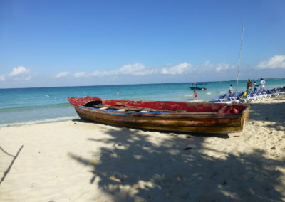fishing boat on 7 mile beach, Negril